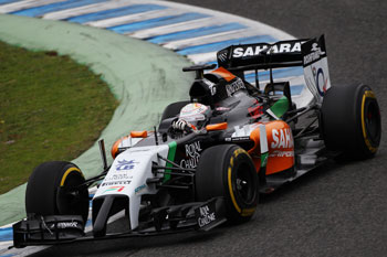 Juncadella pilotando el VJM07 (Foto: Sahara Force India)