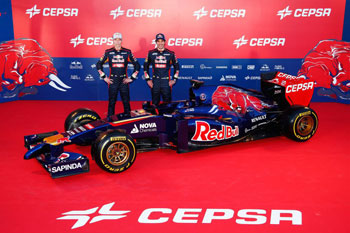 Jean-Eric Vergne y Daniil Kvyat (foto: Peter Fox Getty Images)