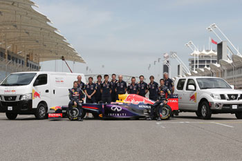 Nissan con el Red Bull Racing Team (Foto: Nissan)